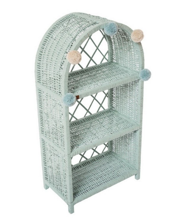 Completely handmade, with the greatest attention to detail, the Dirty Mint Maalum Wicker Bookshelf is perfect for decorating your nursery, toddlers' or teenagers' room. This gorgeous wicker bookcase is a beautiful spot for displaying all kinds of treasures!