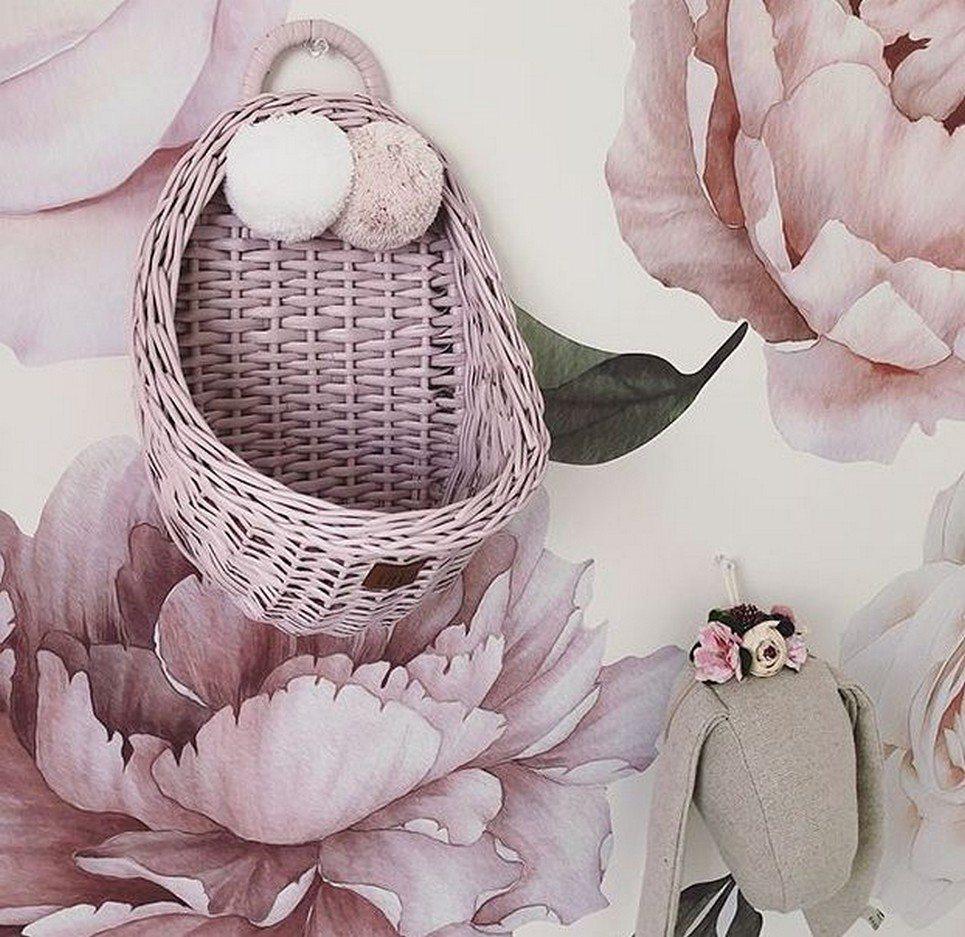 Dirty Pink Maalum Wicker Wall Basket – 4