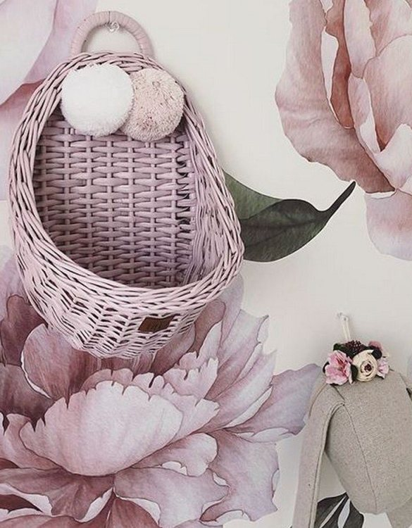 Made from the best quality polish wicker, the Dirty Pink Maalum Wicker Wall Basket is a wonderful decoration for kids' rooms. This adorable wall hanging wicker basket is one of the most delightful storage options we have seen.