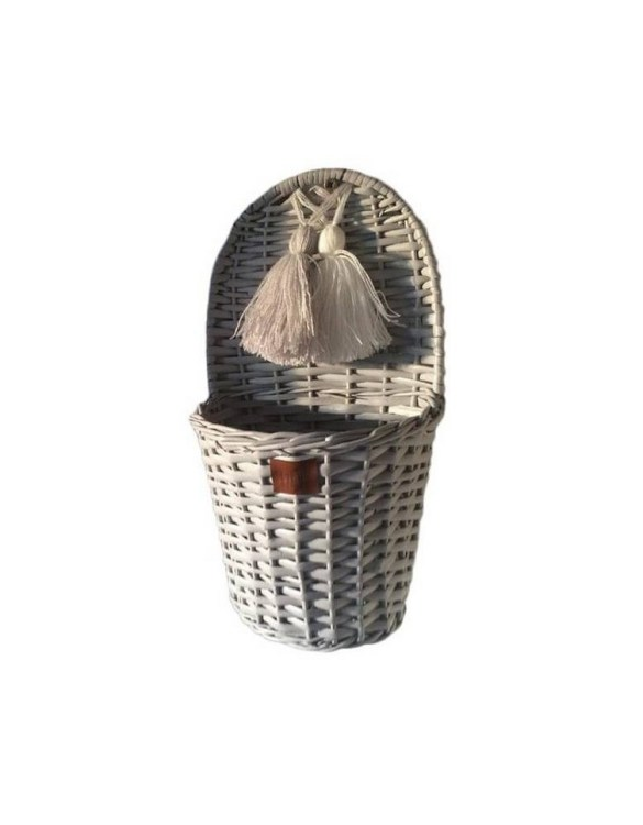 Made from the best quality polish wicker, the Gray Lu Wicker Wall Basket is a wonderful decoration for kids' rooms. This adorable wall hanging wicker basket is one of the most delightful storage options we have seen.