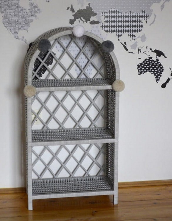 Completely handmade, with the greatest attention to detail, the Gray Maalum Wicker Bookshelf is perfect for decorating your nursery, toddlers' or teenagers' room. This gorgeous wicker bookcase is a beautiful spot for displaying all kinds of treasures!
