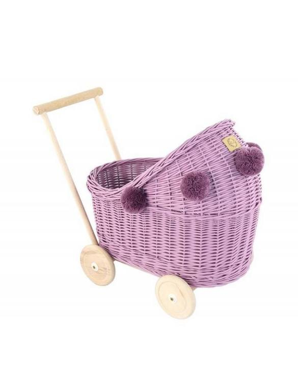 "Gorgeous wicker stroller for a doll, the Heather Low Wicker Doll Pram will be a favourite toy in no time. Such stroller is a great fun for every little ""mom"" and at the same time a 100% stylish, ecological and Polish toy."