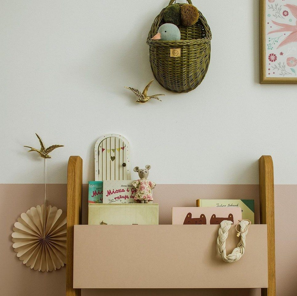 Khaki Maalum Wicker Wall Basket – 2