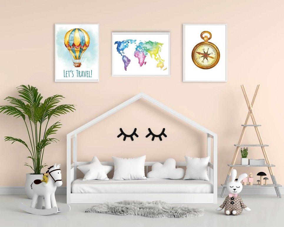 Let's Travel Decorative Children Illustration Set