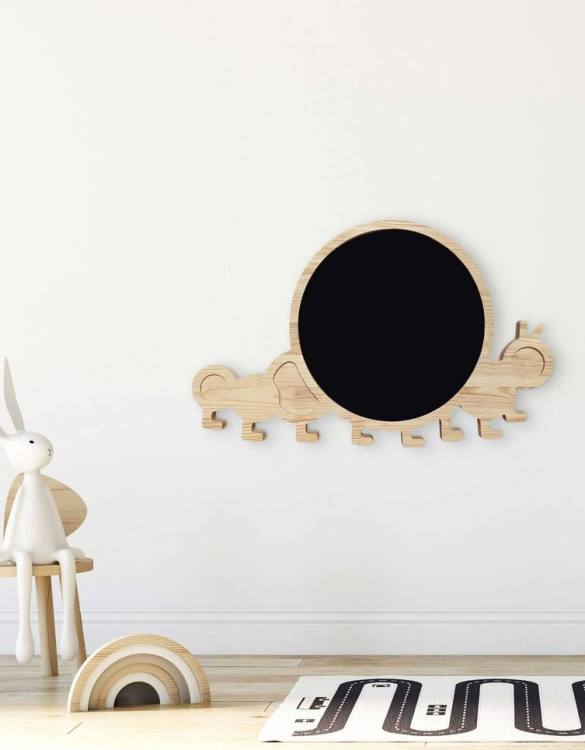 Spark artistic play with the Magnetic Caterpillar Kids Chalkboard. Just the right height for growing artists, this children's chalkboard encourages creativity and allows little ones to develop their fine motor skills through painting, drawing, coloring, and writing.