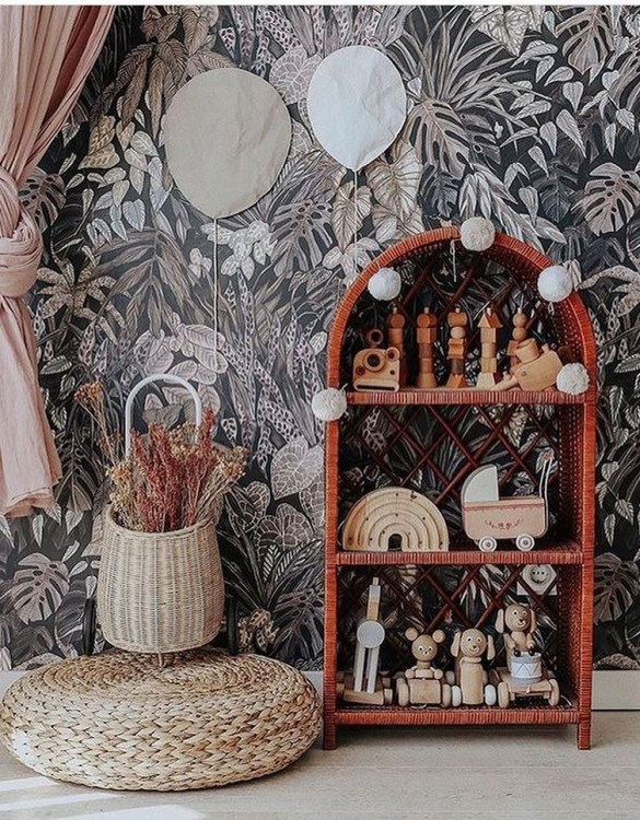 Completely handmade, with the greatest attention to detail, the Natural Maalum Wicker Bookshelf is perfect for decorating your nursery, toddlers' or teenagers' room. This gorgeous wicker bookcase is a beautiful spot for displaying all kinds of treasures!