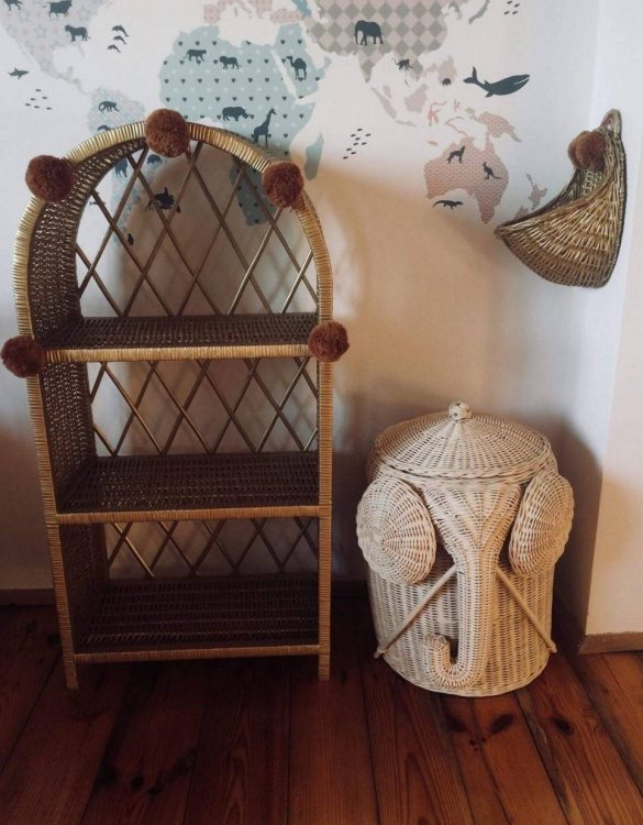 Completely handmade, with the greatest attention to detail, the Old Gold Maalum Wicker Bookshelf is perfect for decorating your nursery, toddlers' or teenagers' room. This gorgeous wicker bookcase is a beautiful spot for displaying all kinds of treasures!