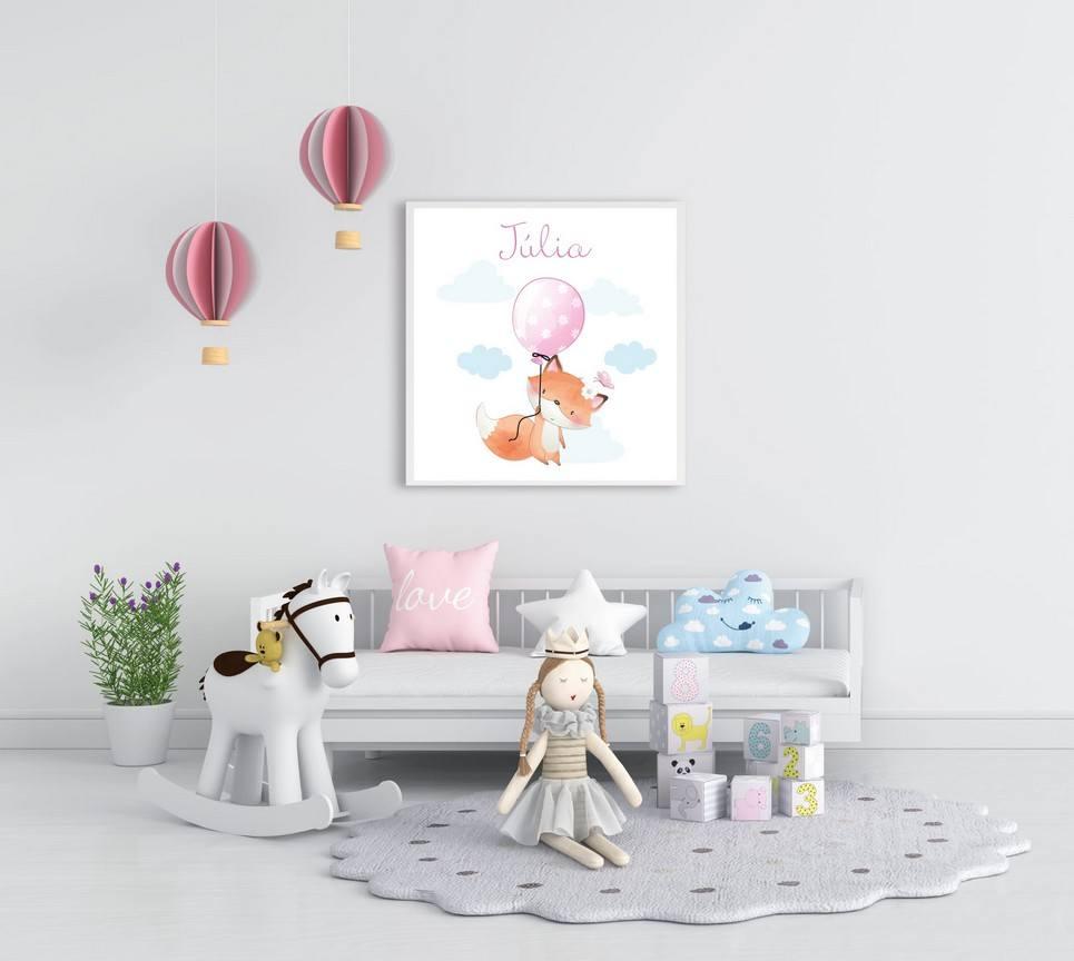 Personalised Name Fox Children Illustration