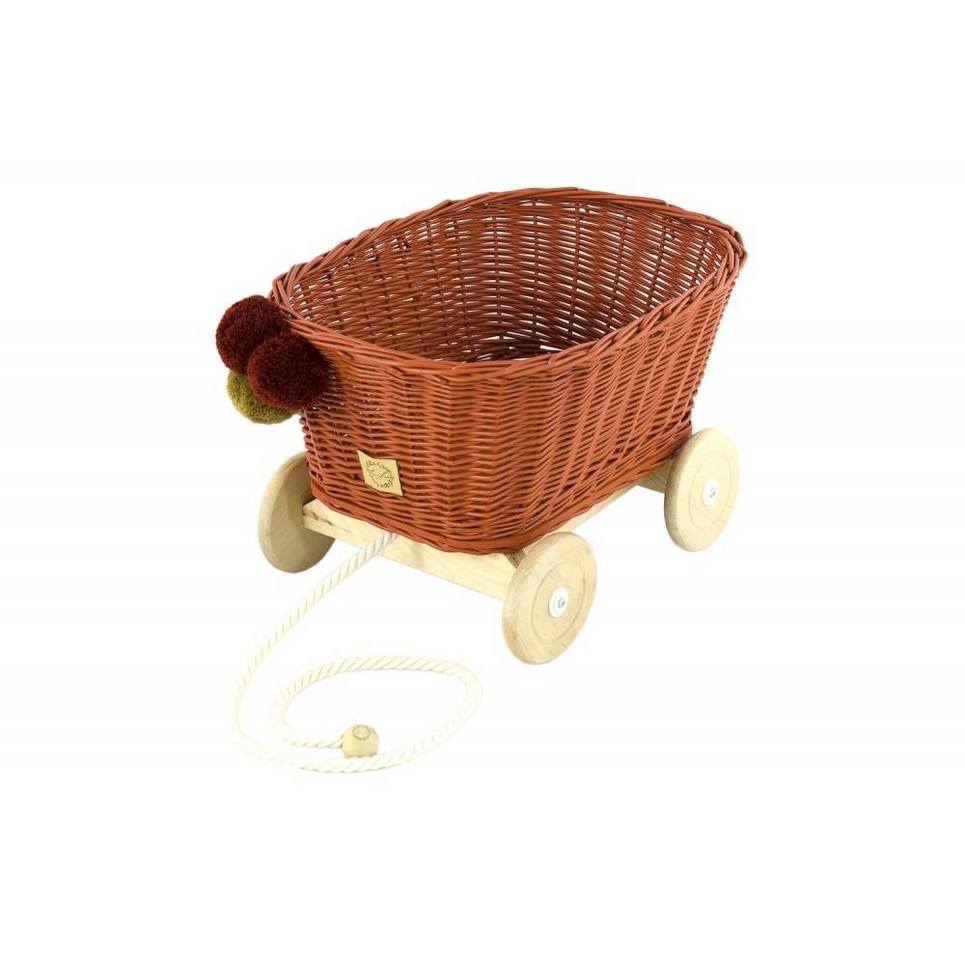 Rowanberry Wicker Pull Cart