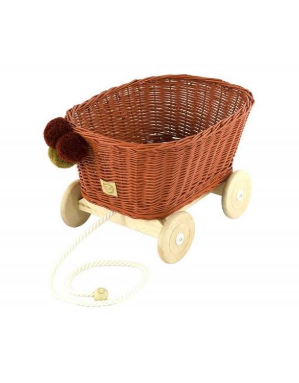 A healthy alternative to other toys, the Rowanberry Wicker Pull Cart is an artistic handicraft with perfectly selected details. The wicker stroller will not only be a great toy, but also an extraordinary decoration for a child's room.