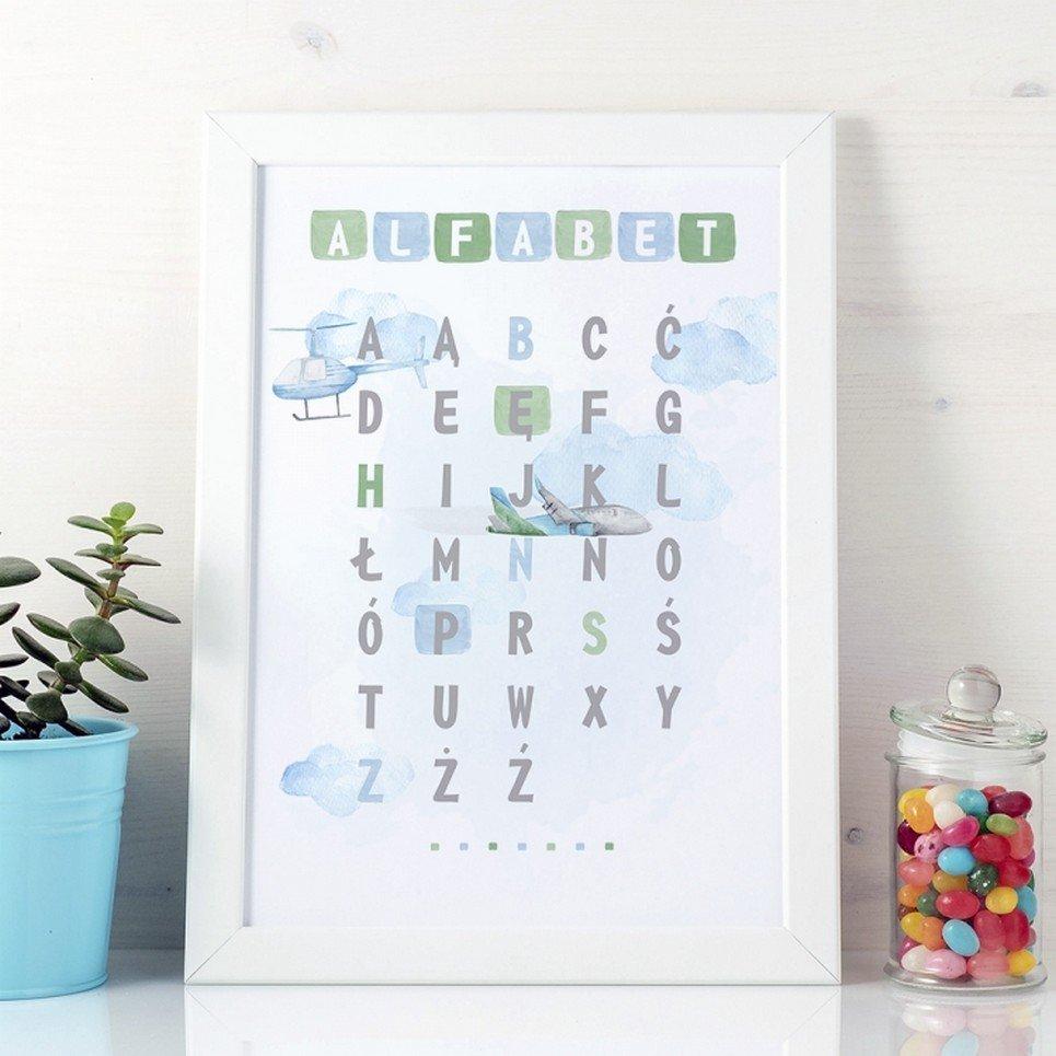 Around the World Alphabet Children's Poster
