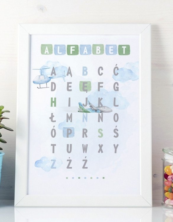 A unique keepsake that will create enchanting memories, the Around the World Alphabet Children's Poster is a really unique and eyecatching print that is loved by kids and adults. Encourage their wild side with this fun print. Designed in a playful font, they will make a great addition to any nursery, child's room, or playroom.