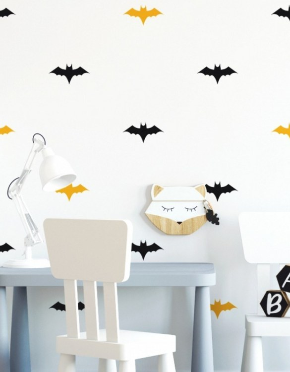 A beautiful scene for children's rooms and nurseries, the Bats Children's Wall Sticker is the perfect addition to any empty space (like walls or furniture). These wall stickers provide a flexible and cost-effective way to decorate your home.