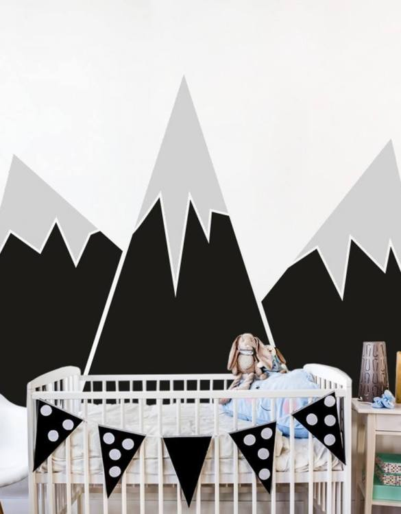 A beautiful scene for children's rooms and nurseries, the Big Mountains Children's Wall Sticker is the perfect addition to any empty space (like walls or furniture). These wall stickers provide a flexible and cost-effective way to decorate your home.