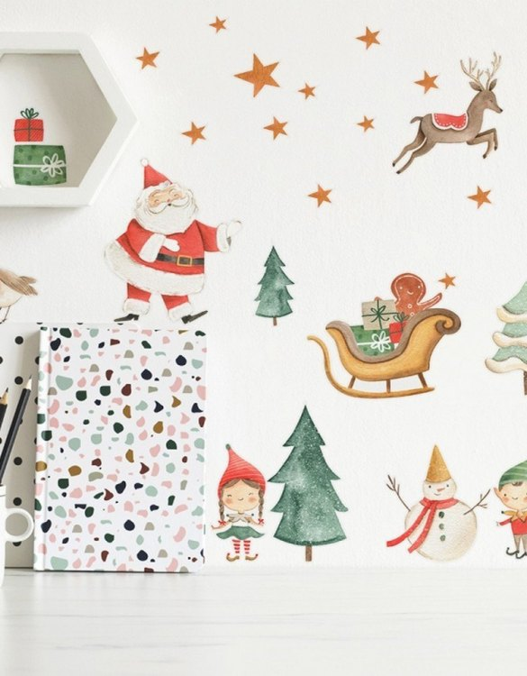 A beautiful scene for children's rooms and nurseries, the Christmas Children's Wall Sticker is the perfect addition to any empty space (like walls or furniture). These wall stickers provide a flexible and cost-effective way to decorate your home.