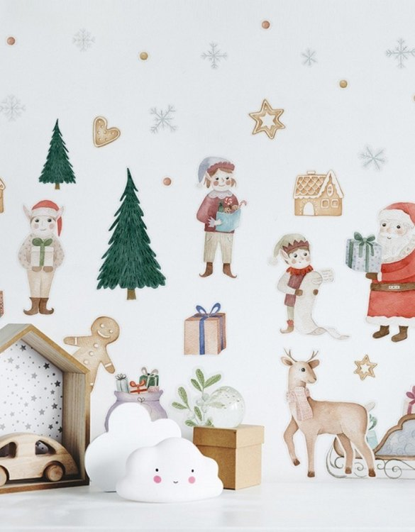 A beautiful scene for children's rooms and nurseries, the Christmas Gifts Children's Wall Sticker is the perfect addition to any empty space (like walls or furniture). These wall stickers provide a flexible and cost-effective way to decorate your home.