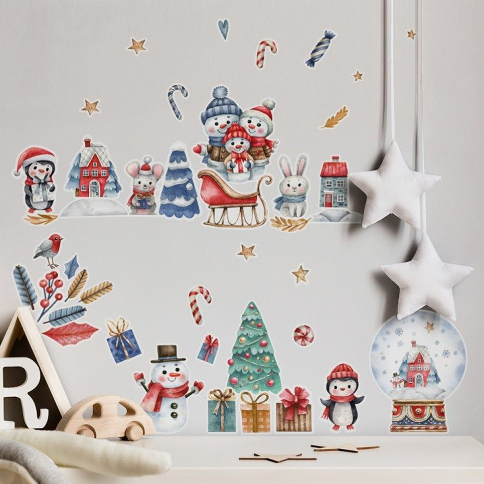 Christmas Scene Children's Wall Sticker