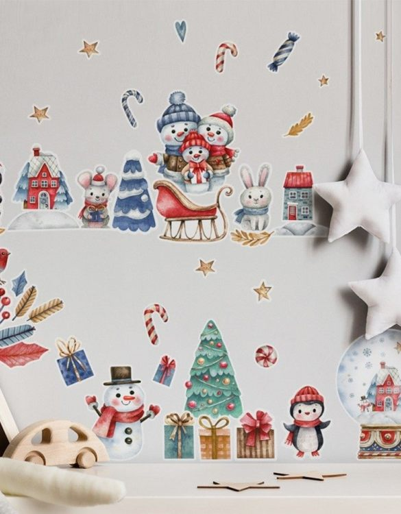 A beautiful scene for children's rooms and nurseries, the Christmas Scene Children's Wall Sticker is the perfect addition to any empty space (like walls or furniture). These wall stickers provide a flexible and cost-effective way to decorate your home.