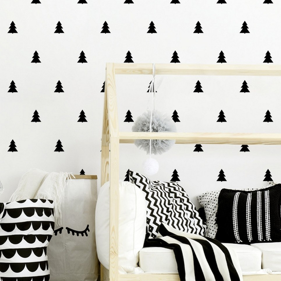 Christmas Trees Children's Wall Sticker