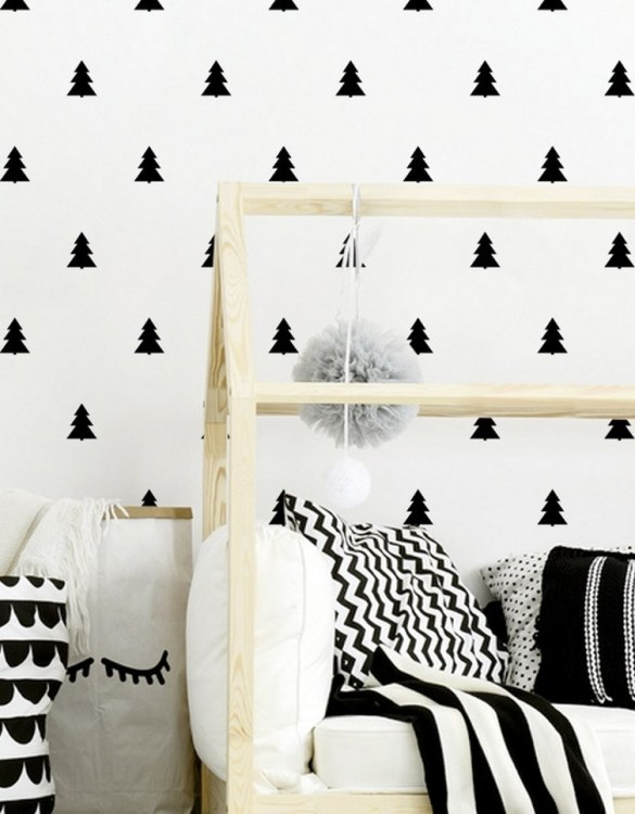 A beautiful scene for children's rooms and nurseries, the Christmas Trees Children's Wall Sticker is the perfect addition to any empty space (like walls or furniture). These wall stickers provide a flexible and cost-effective way to decorate your home.