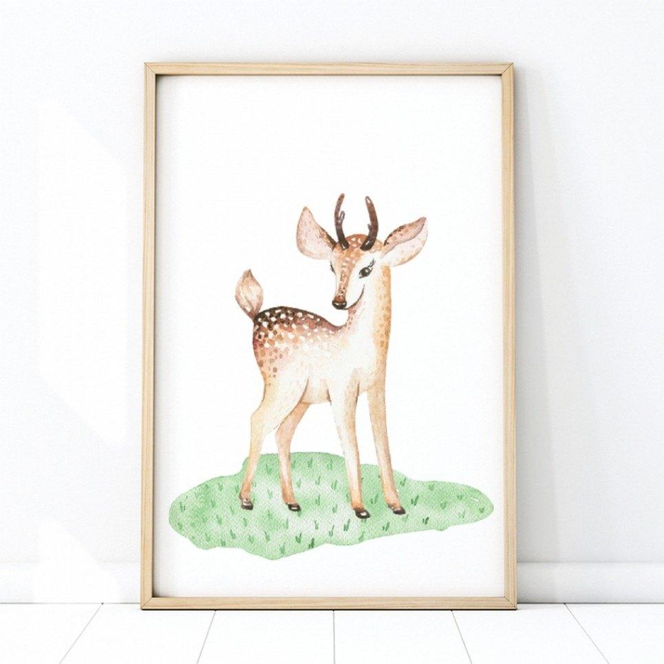 Cute Deer Children's Poster