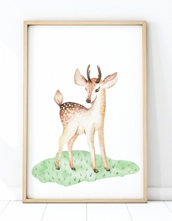 A unique keepsake that will create enchanting memories, the Cute Deer Children's Poster is a really unique and eyecatching print that is loved by kids and adults. Encourage their wild side with this fun print. Designed in a playful font, they will make a great addition to any nursery, child's room, or playroom.