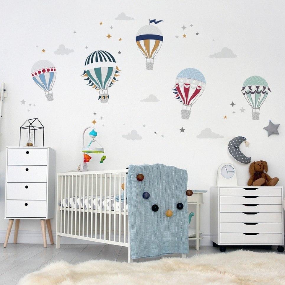 Cute Hot Air Balloon Children's Wall Sticker