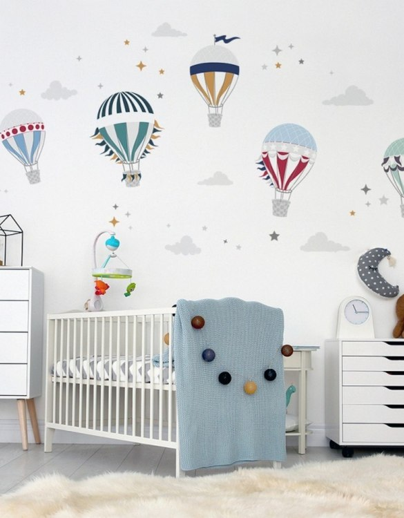 A beautiful scene for children's rooms and nurseries, the Cute Hot Air Balloon Children's Wall Sticker is the perfect addition to any empty space (like walls or furniture). These wall stickers provide a flexible and cost-effective way to decorate your home.