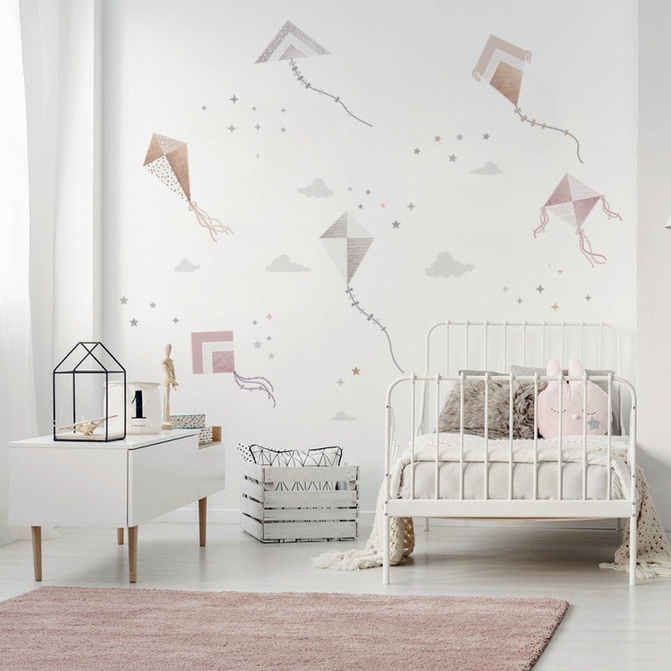 Cute Kite Flying Children's Wall Sticker