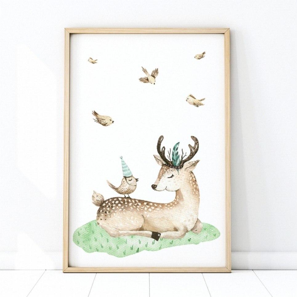 Deer Children's Poster