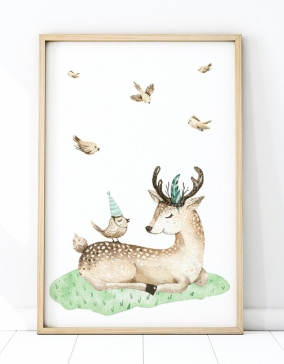 A unique keepsake that will create enchanting memories, the Deer Children's Poster is a really unique and eyecatching print that is loved by kids and adults. Encourage their wild side with this fun print. Designed in a playful font, they will make a great addition to any nursery, child's room, or playroom.