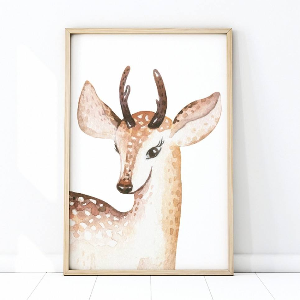 Deer Portrait Children's Poster