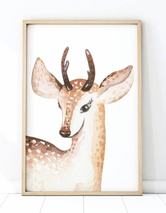 A unique keepsake that will create enchanting memories, the Deer Portrait Children's Poster is a really unique and eyecatching print that is loved by kids and adults. Encourage their wild side with this fun print. Designed in a playful font, they will make a great addition to any nursery, child's room, or playroom.
