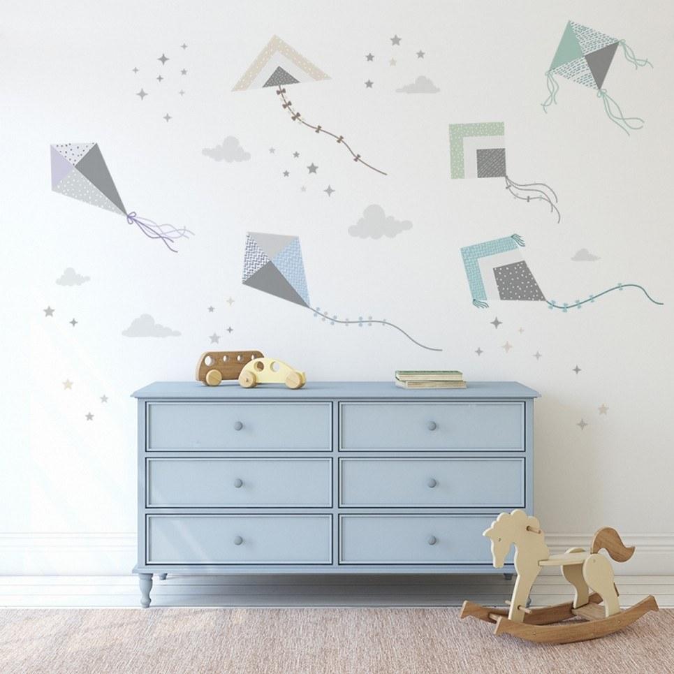 Kite Flying Children's Wall Sticker