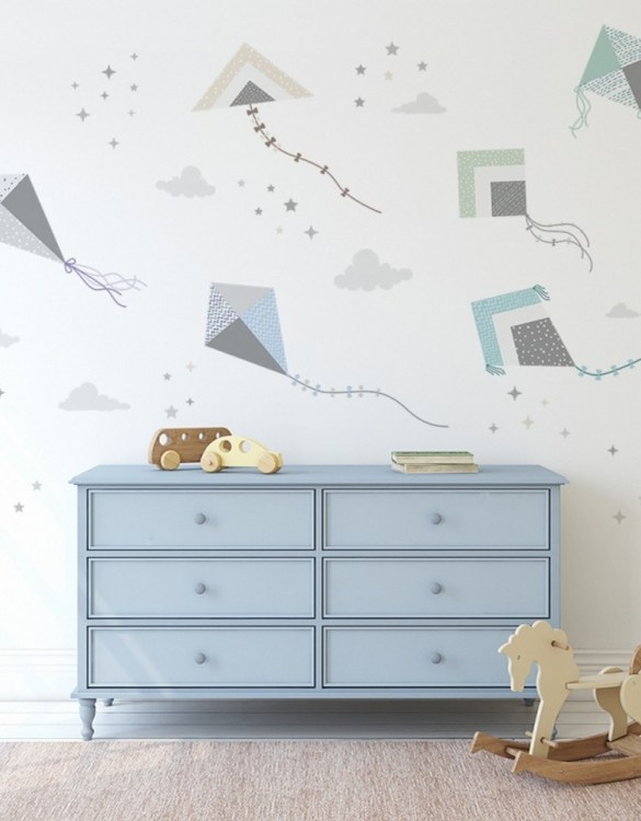 A beautiful scene for children's rooms and nurseries, the Kite Flying Children's Wall Sticker is the perfect addition to any empty space (like walls or furniture). These wall stickers provide a flexible and cost-effective way to decorate your home.