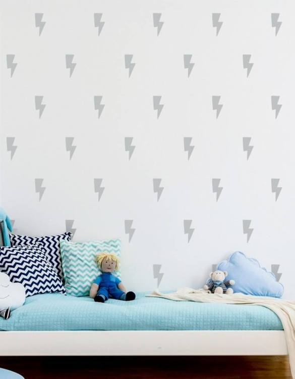 A beautiful scene for children's rooms and nurseries, the Lightning Children's Wall Sticker is the perfect addition to any empty space (like walls or furniture). These wall stickers provide a flexible and cost-effective way to decorate your home.