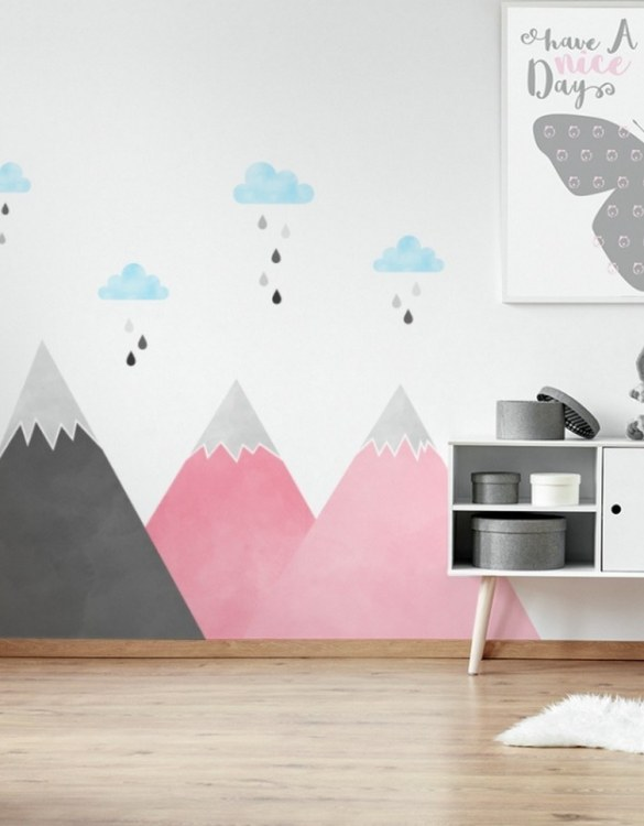 A beautiful scene for children's rooms and nurseries, the Pink Mountains and Clouds Children's Wall Sticker is the perfect addition to any empty space (like walls or furniture). These wall stickers provide a flexible and cost-effective way to decorate your home.