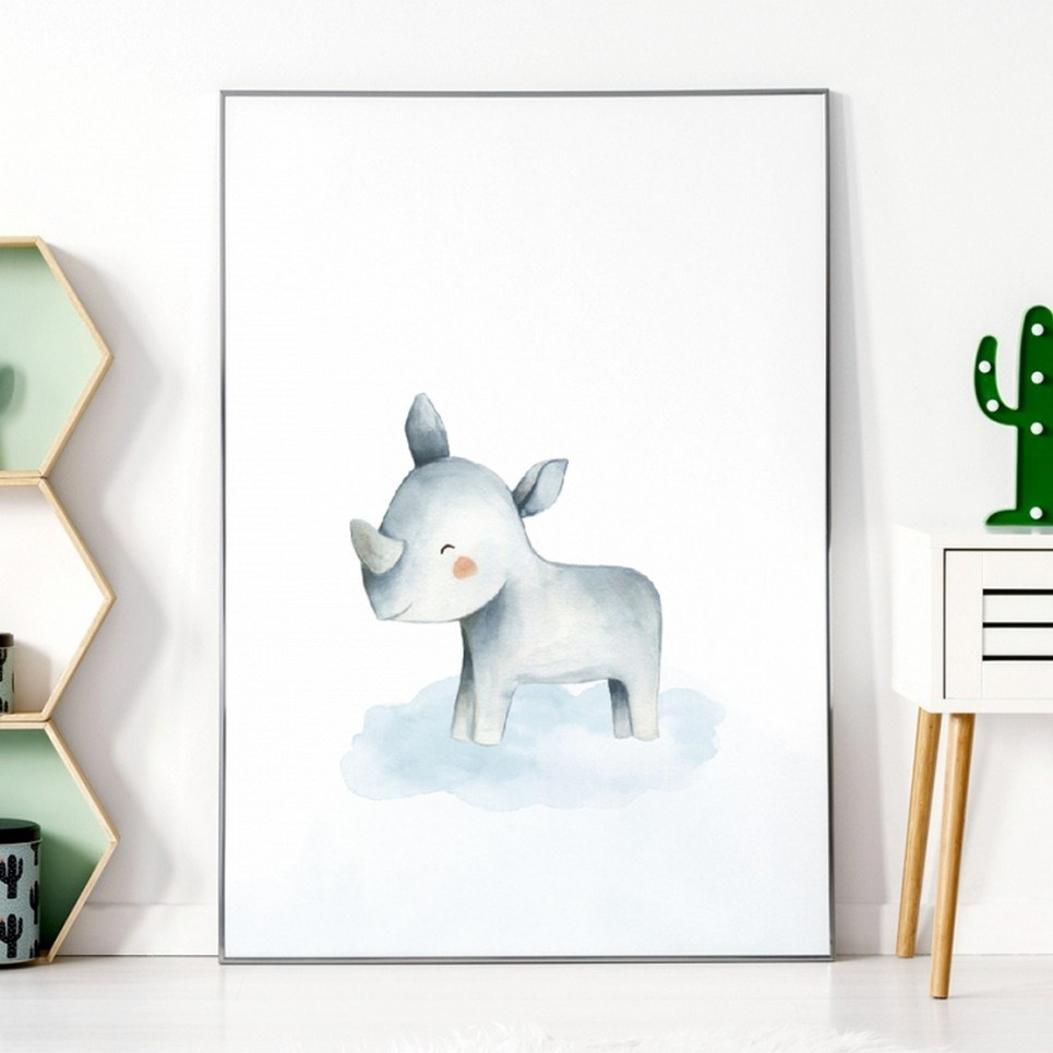 Rhino Children's Poster