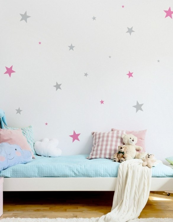 A beautiful scene for children's rooms and nurseries, the Stars 2 Colours Children's Wall Sticker is the perfect addition to any empty space (like walls or furniture). These wall stickers provide a flexible and cost-effective way to decorate your home.