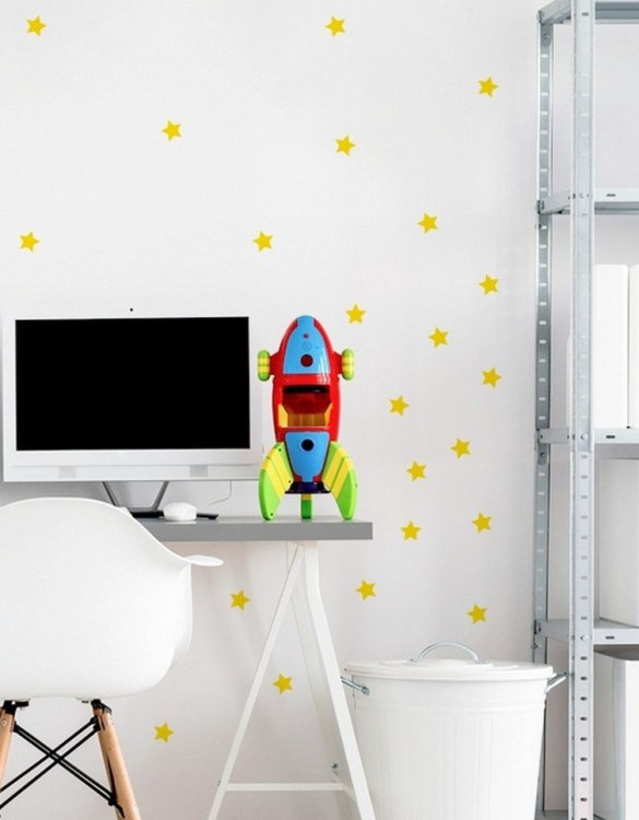 A beautiful scene for children's rooms and nurseries, the Stars 3cm Children's Wall Sticker is the perfect addition to any empty space (like walls or furniture). These wall stickers provide a flexible and cost-effective way to decorate your home.
