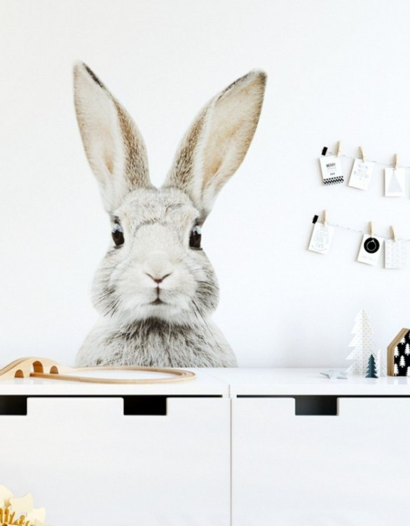 A beautiful scene for children's rooms and nurseries, the Stefan Rabbit Children's Wall Sticker is the perfect addition to any empty space (like walls or furniture). These wall stickers provide a flexible and cost-effective way to decorate your home.