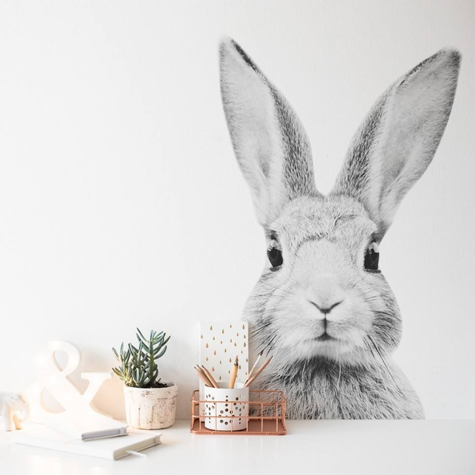 Stefan Rabbit Monochrome Children's Wall Sticker