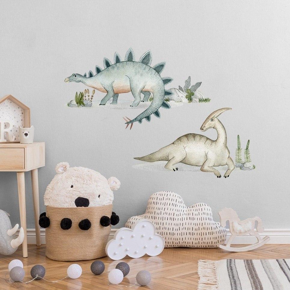 Stegozaur Parazaurolof Children's Wall Sticker