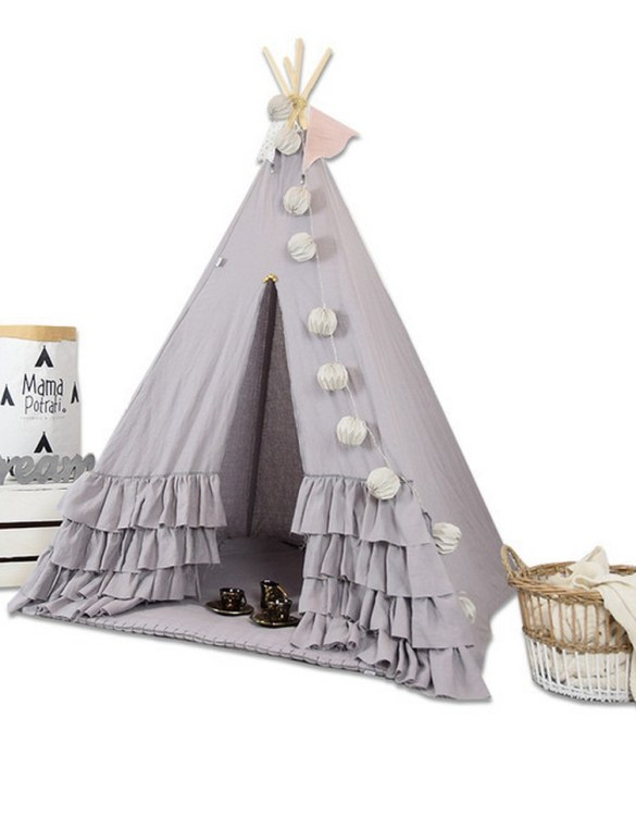 Add the perfect touch to your child's room with the Boho Dream Children's Teepee Tent. A perfect hideaway for tiny people, this decorative kids' play tent is a wonderful space for little ones to call their own and immerse themselves in imaginative play.