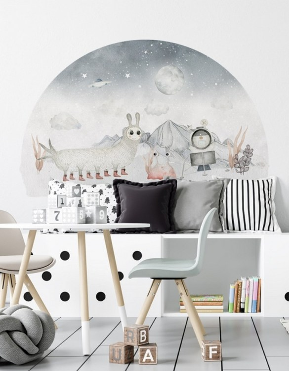 A beautiful scene for children's rooms and nurseries, the Bolek and Atomek Children's Wall Sticker is the perfect addition to any empty space (like walls or furniture). These wall stickers provide a flexible and cost-effective way to decorate your home.