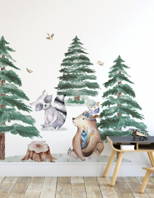 A beautiful scene for children's rooms and nurseries, the Forest Animals Children's Wall Sticker is the perfect addition to any empty space (like walls or furniture). These wall stickers provide a flexible and cost-effective way to decorate your home.