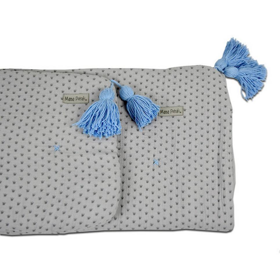 Muslin Newborn Bedding Filled Royal