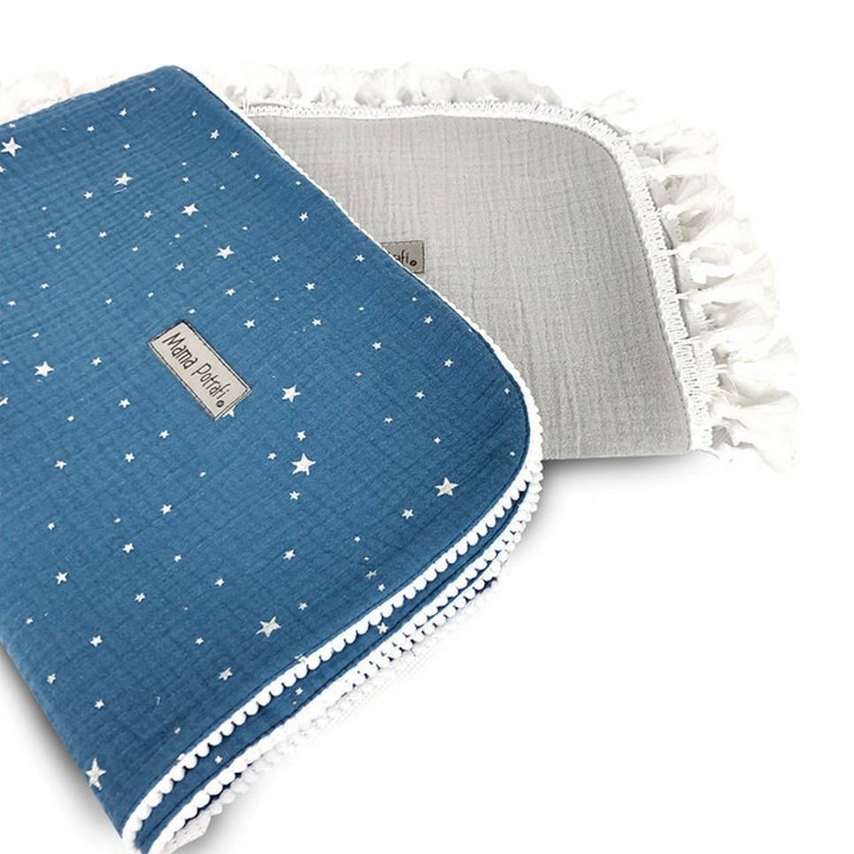 Muslin Swaddle 2 Pack Silver Star