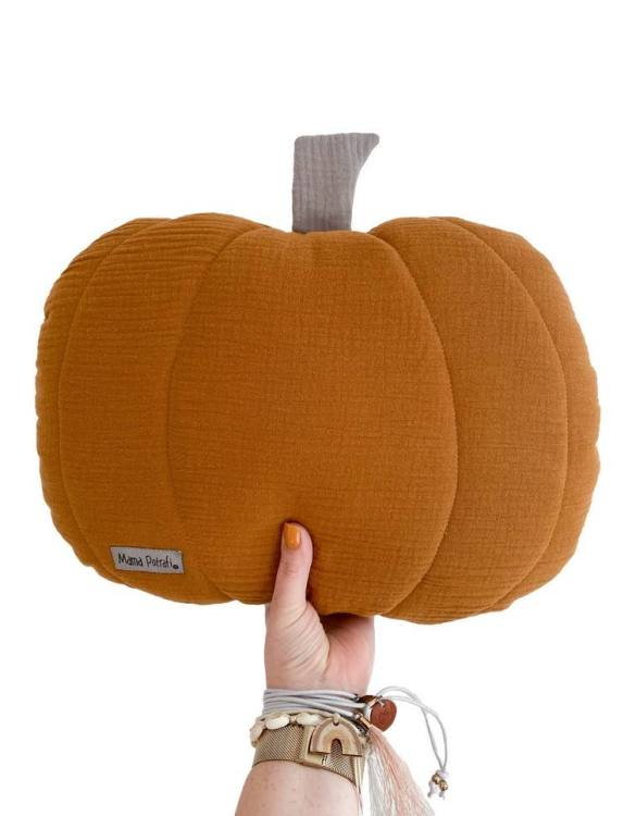 Perfect for any little one or teenager's bedroom, the Pumpkin Children's Pillow is great for finishing up your little one's playroom. Your kids will love it! This children's cushion is super soft and super cute. A beautiful addition to any nursery or kids' room.