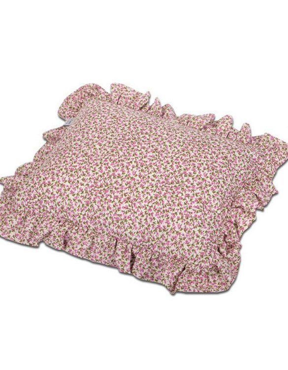 Perfect for any little one or teenager's bedroom, the Ruffle Flowers Children's Pillow is great for finishing up your little one's playroom. Your kids will love it! This children's cushion is super soft and super cute. A beautiful addition to any nursery or kids' room.